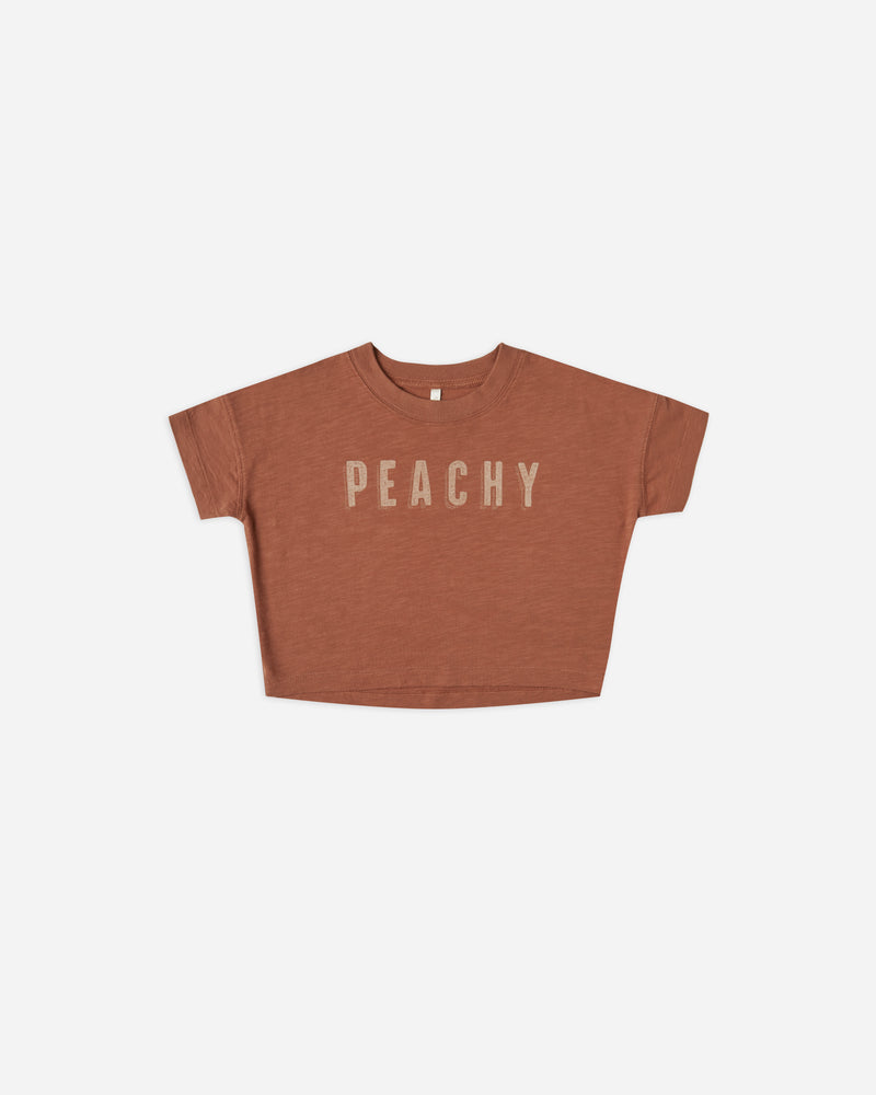 boxy tee || peachy - Rylee + Cru | Kids Clothes | Trendy Baby Clothes | Modern Infant Outfits |
