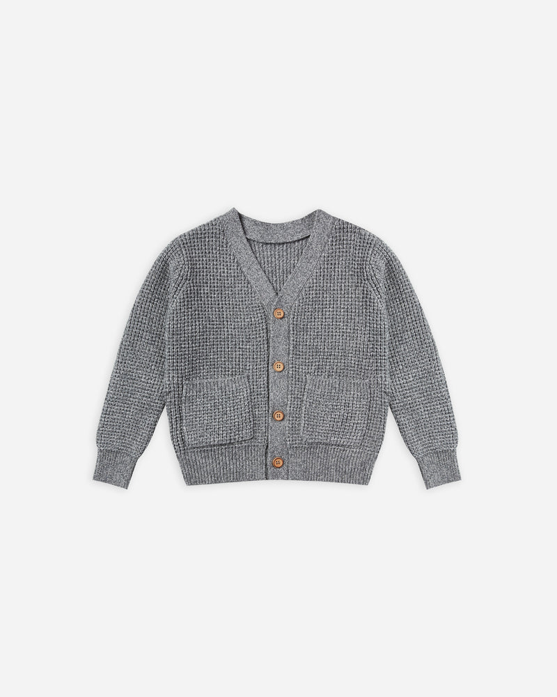 button cardigan || washed indigo - Rylee + Cru