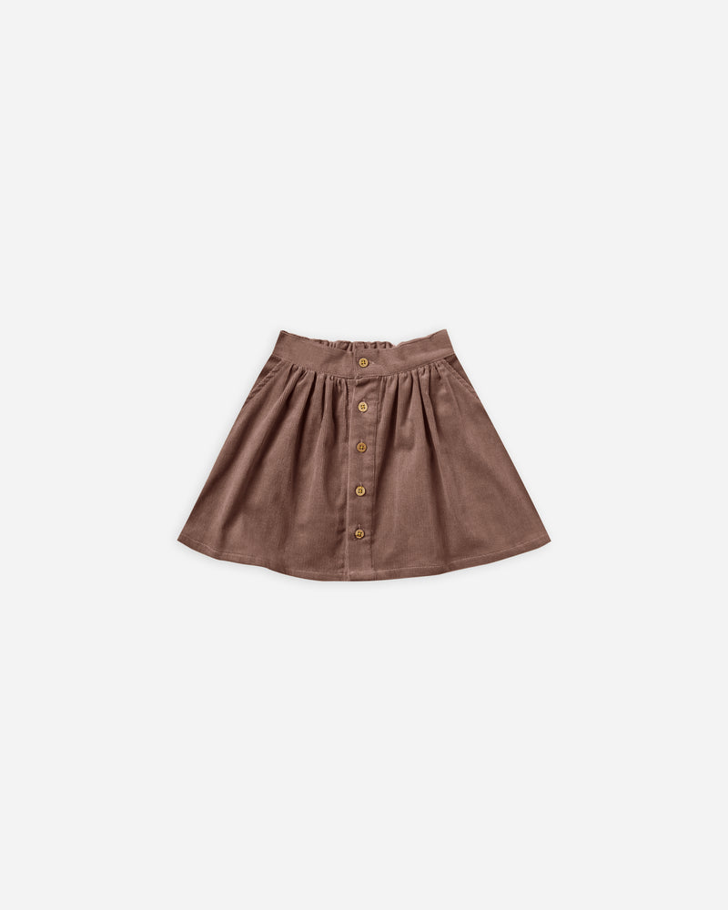 button front mini skirt || wine - Rylee + Cru
