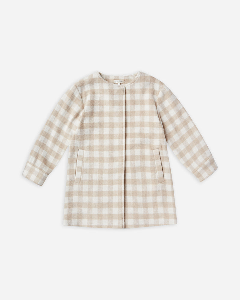 winnie coat || oat check - Rylee + Cru | Kids Clothes | Trendy Baby Clothes | Modern Infant Outfits |