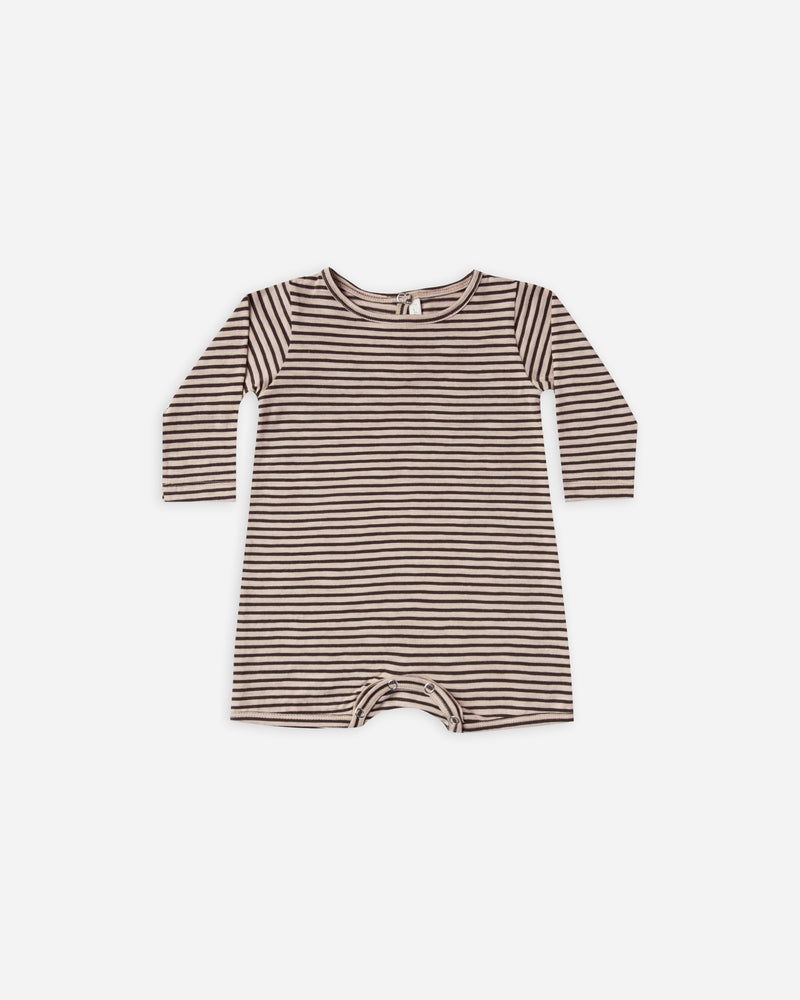 dash romper || oat/black stripe - Rylee + Cru | Kids Clothes | Trendy Baby Clothes | Modern Infant Outfits |