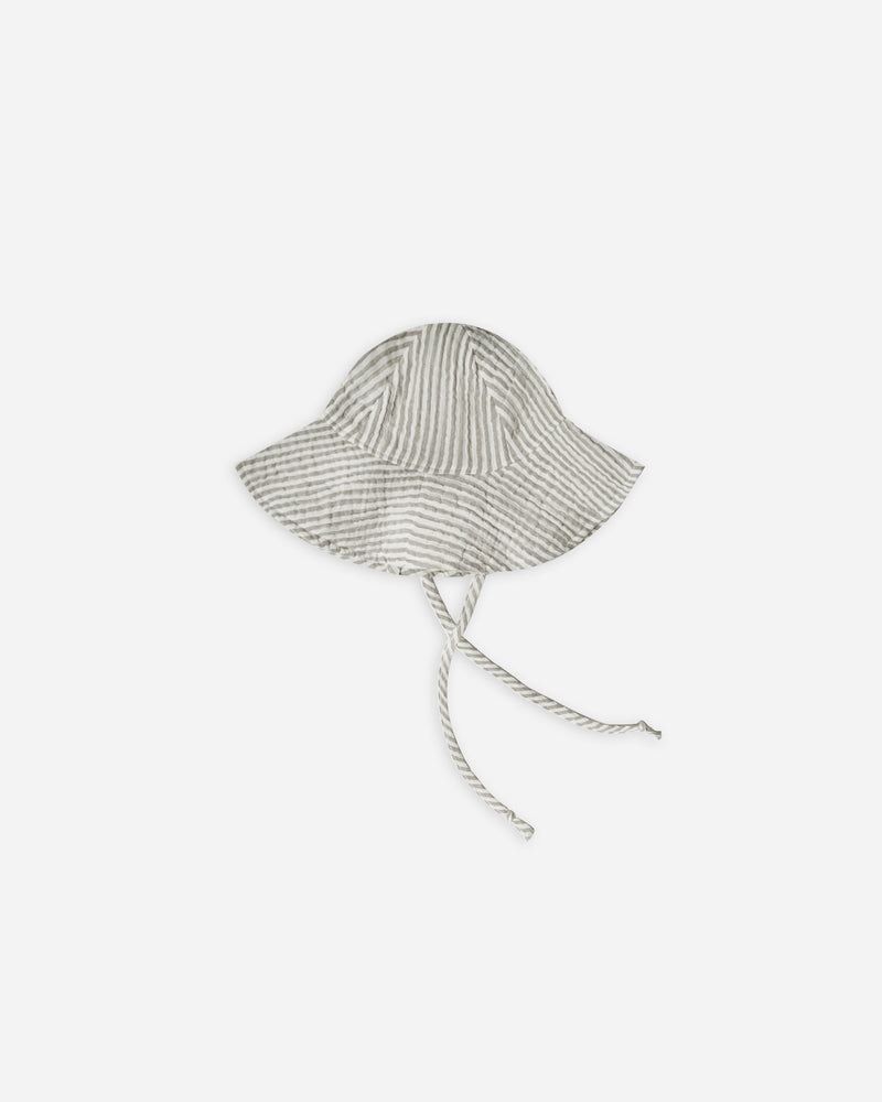 floppy sun hat || olive stripe