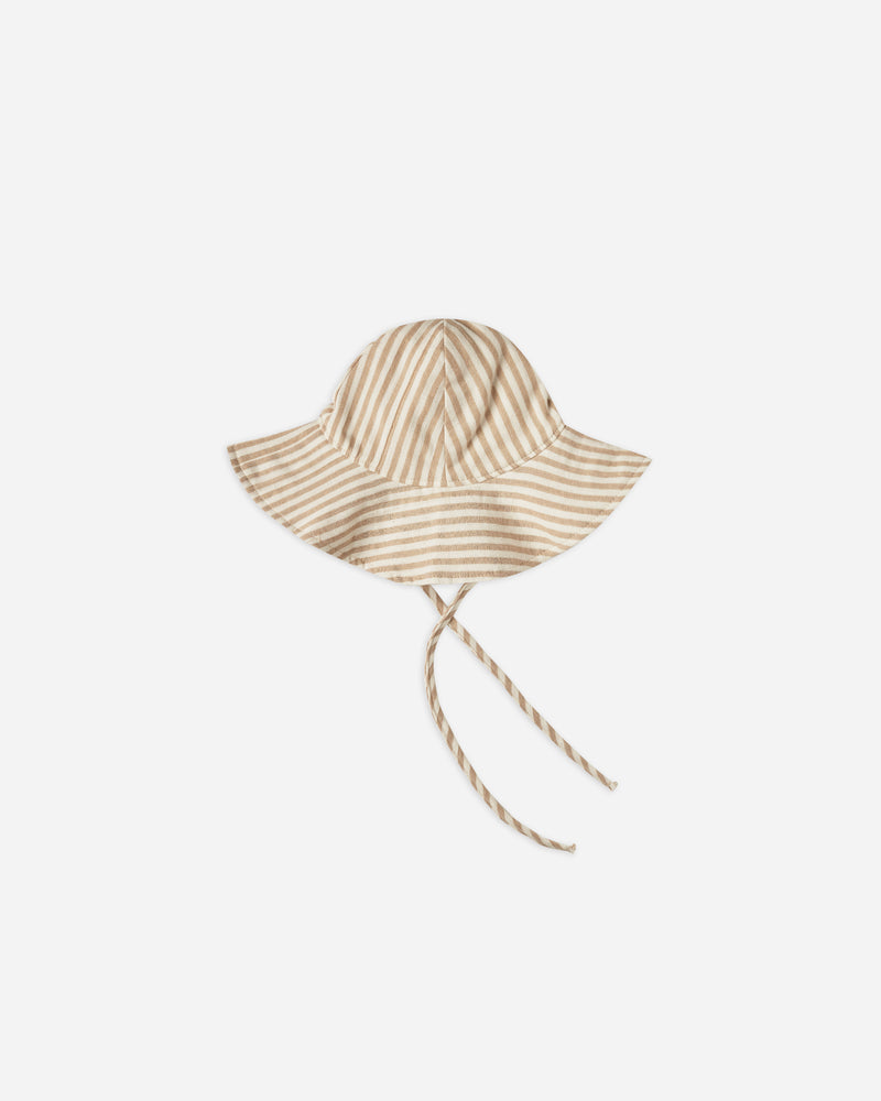 STRIPED FLOPPY HAT || Almond - Rylee + Cru | Kids Clothes | Trendy Baby Clothes | Modern Infant Outfits |