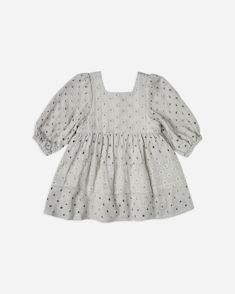 gretta dress || blue fog eyelet - Rylee + Cru | Kids Clothes | Trendy Baby Clothes | Modern Infant Outfits |