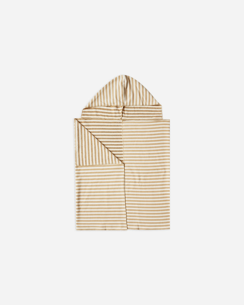 STRIPED HOODED TOWEL || Almond - Rylee + Cru | Kids Clothes | Trendy Baby Clothes | Modern Infant Outfits |