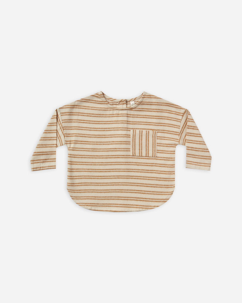 striped jack shirt || cinnamon - Rylee + Cru
