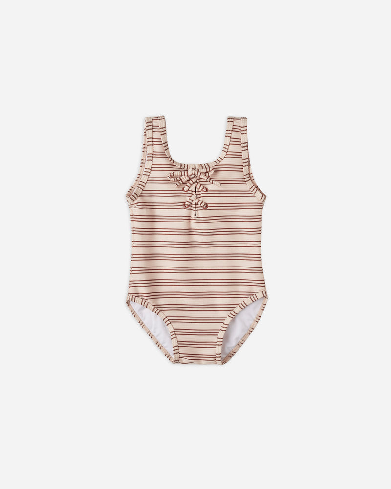 lace-up onepiece || amber stripe - Rylee + Cru | Kids Clothes | Trendy Baby Clothes | Modern Infant Outfits |