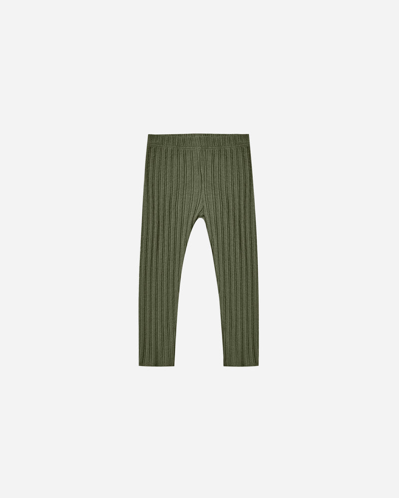 ribbed legging || forest - Rylee + Cru | Kids Clothes | Trendy Baby Clothes | Modern Infant Outfits |