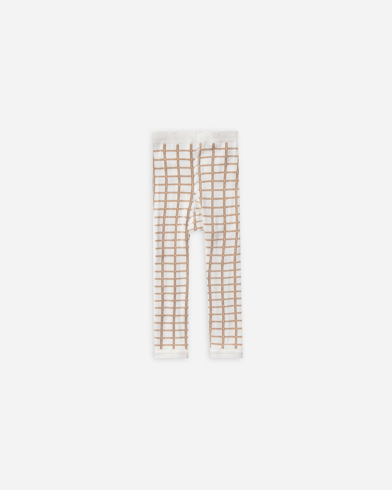 knit leggings || bronze grid - Rylee + Cru | Kids Clothes | Trendy Baby Clothes | Modern Infant Outfits |