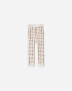 knit leggings || bronze grid - Rylee + Cru