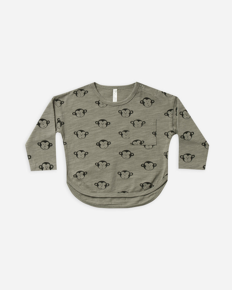 longsleeve tee || monkey - Rylee + Cru | Kids Clothes | Trendy Baby Clothes | Modern Infant Outfits |