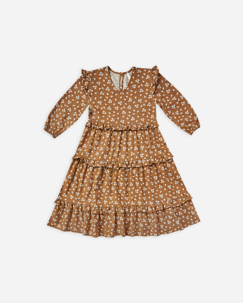 mabel dress || cinnamon ditsy - Rylee + Cru | Kids Clothes | Trendy Baby Clothes | Modern Infant Outfits |