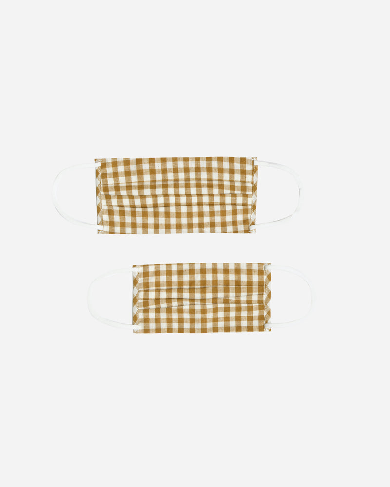 mask set || goldenrod gingham - Rylee + Cru