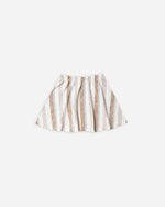 Striped Mini Skirt || Caramel