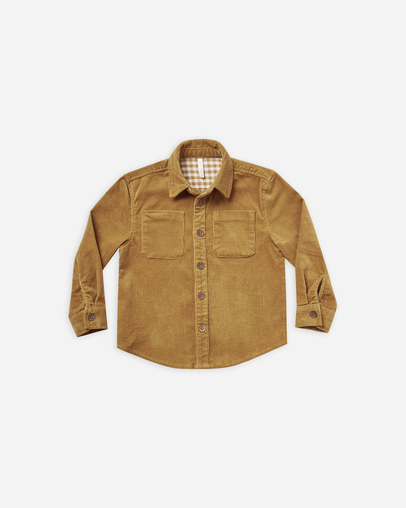 collared shirt || goldenrod corduroy - Rylee + Cru