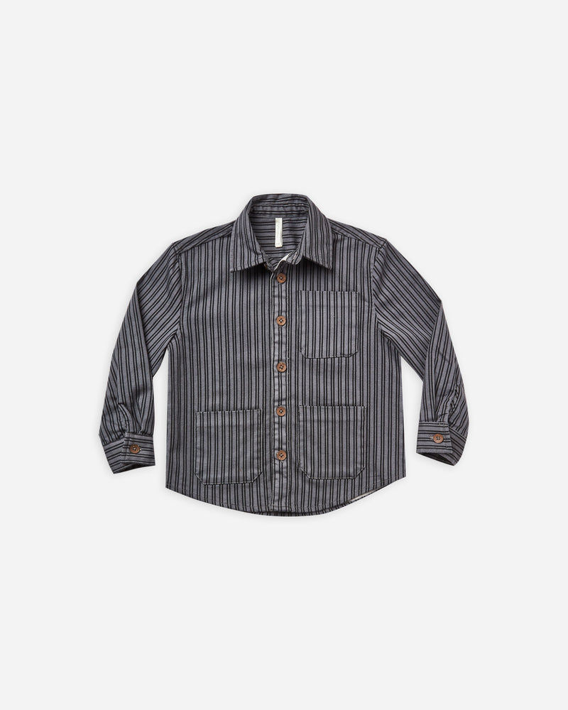 collared shirt || indigo stripe - Rylee + Cru