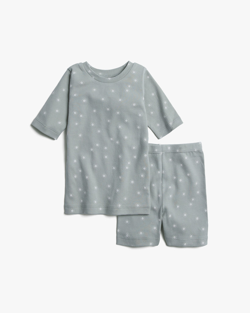 organic summer pajama || sunburst, blue fog - Rylee + Cru | Kids Clothes | Trendy Baby Clothes | Modern Infant Outfits |