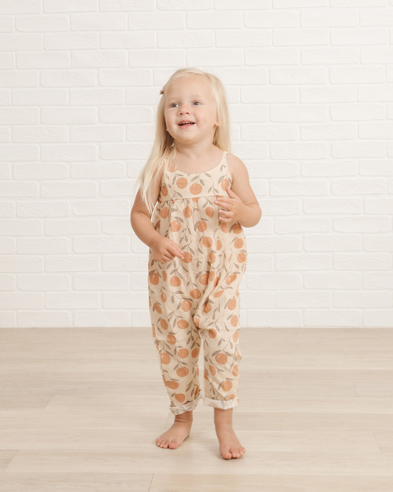 Gigi Jumpsuit || Peaches - Rylee + Cru | Kids Clothes | Trendy Baby Clothes | Modern Infant Outfits |