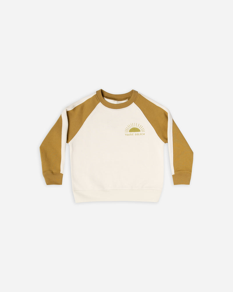 raglan sweatshirt || you're golden - Rylee + Cru