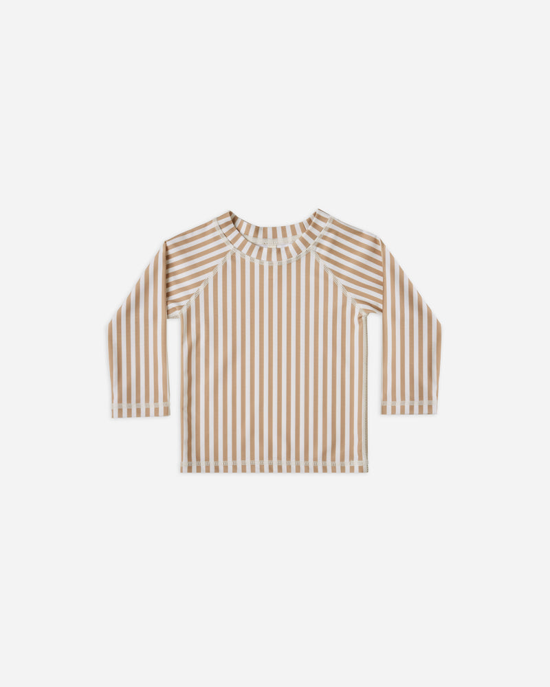 rashguard || almond stripe - Rylee + Cru | Kids Clothes | Trendy Baby Clothes | Modern Infant Outfits |