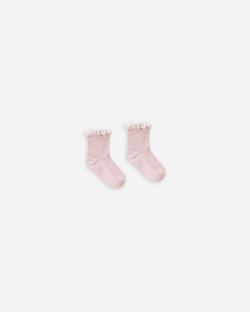 lace trim socks || lilac - Rylee + Cru | Kids Clothes | Trendy Baby Clothes | Modern Infant Outfits |