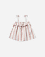 ruffle tube top || petal stripe - Rylee + Cru
