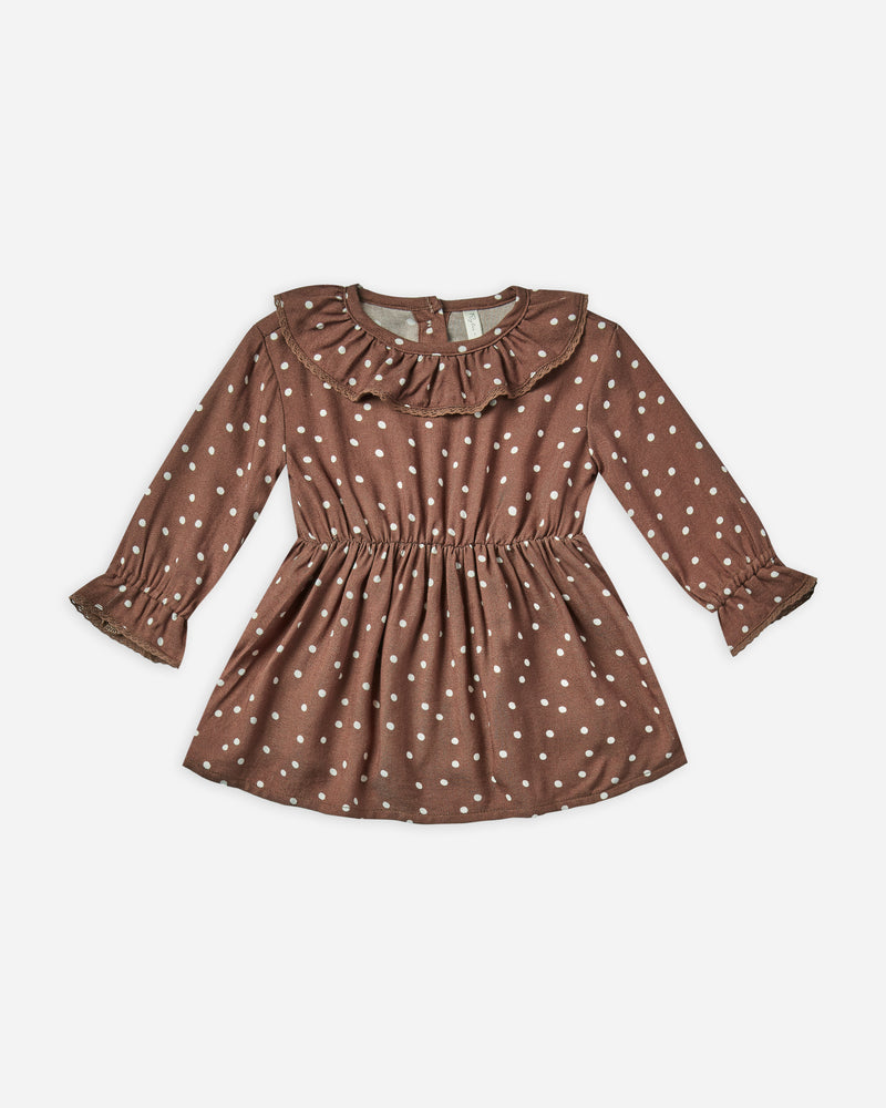 ruffle collar baby dress || dot - Rylee + Cru