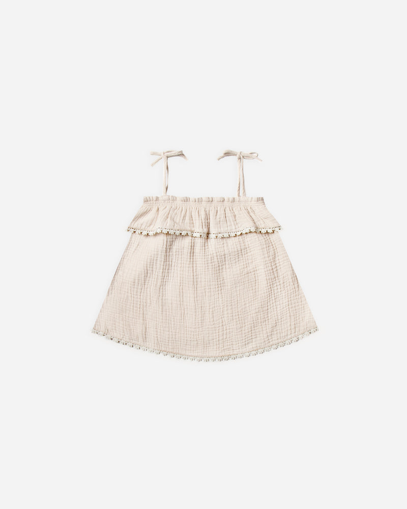 ruffle tube top || natural - Rylee + Cru