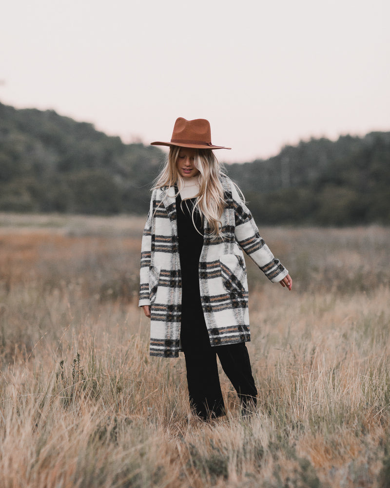 longline coat || fall plaid - Rylee + Cru