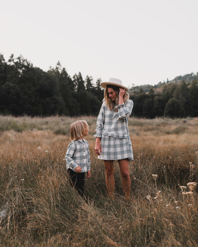 hazel dress | forest flannel - Rylee + Cru | Kids Clothes | Trendy Baby Clothes | Modern Infant Outfits |