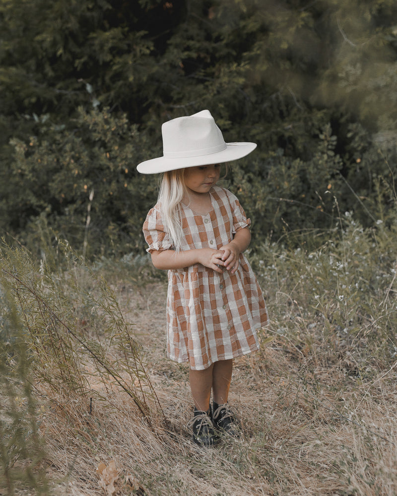 jeanette dress || cinnamon check - Rylee + Cru | Kids Clothes | Trendy Baby Clothes | Modern Infant Outfits |