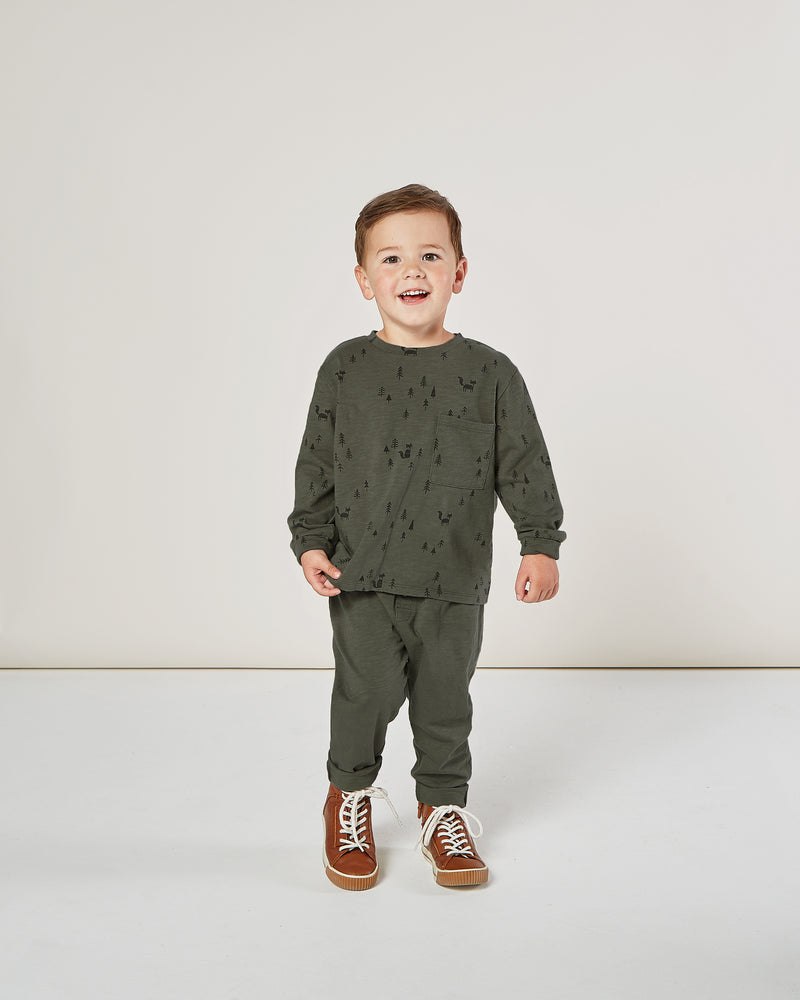 cru pant || forest - Rylee + Cru | Kids Clothes | Trendy Baby Clothes | Modern Infant Outfits |