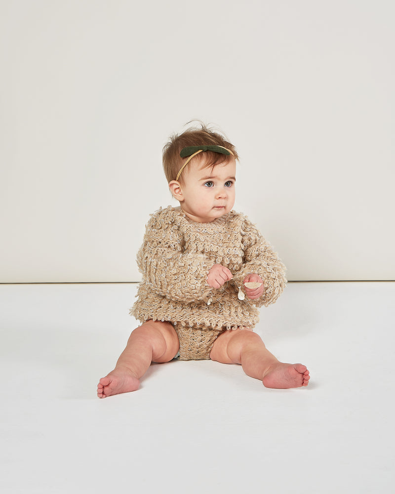 slouchy pullover sweater || oat - Rylee + Cru | Kids Clothes | Trendy Baby Clothes | Modern Infant Outfits |
