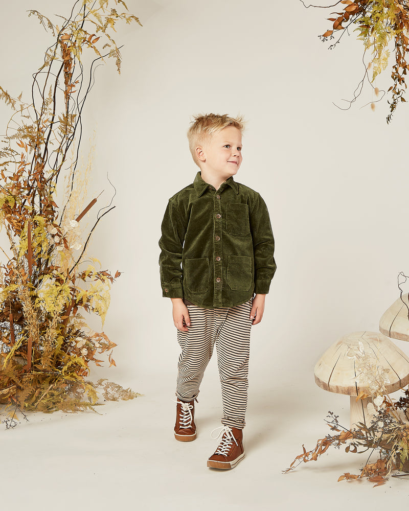 collared shirt || forest corduroy - Rylee + Cru