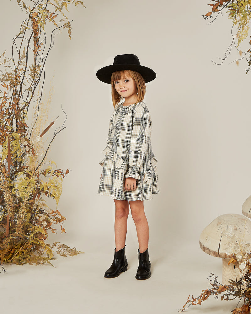 hazel dress || forest flannel - Rylee + Cru | Kids Clothes | Trendy Baby Clothes | Modern Infant Outfits |