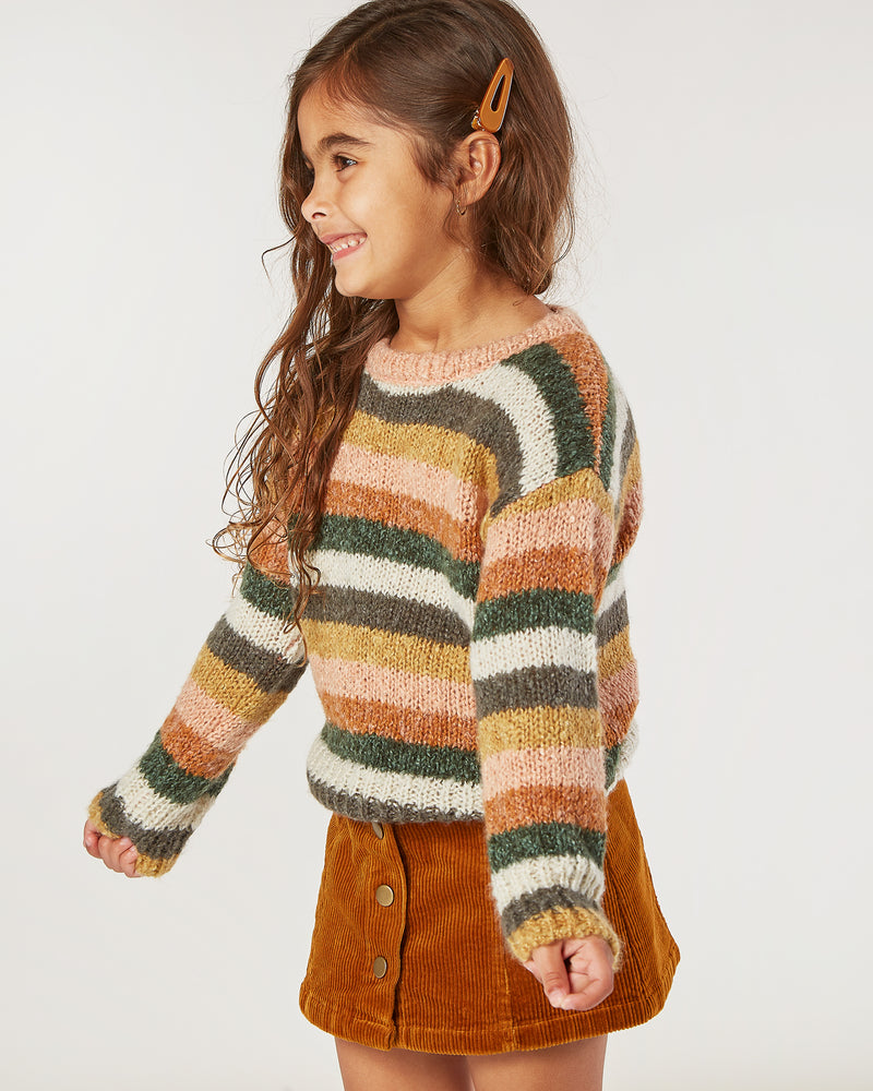 aspen sweater || multi-stripe - Rylee + Cru