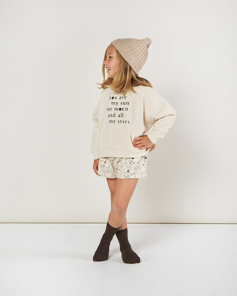 boxy pullover || natural - Rylee + Cru