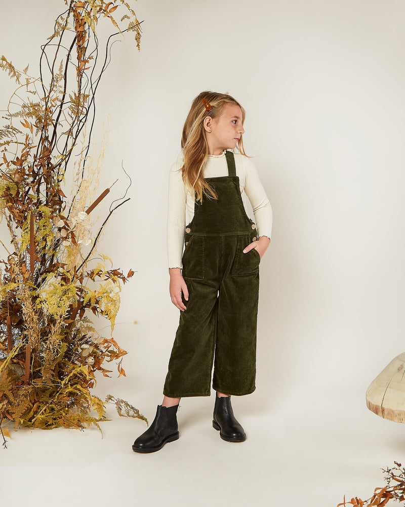 wide leg overall || forest - Rylee + Cru | Kids Clothes | Trendy Baby Clothes | Modern Infant Outfits |