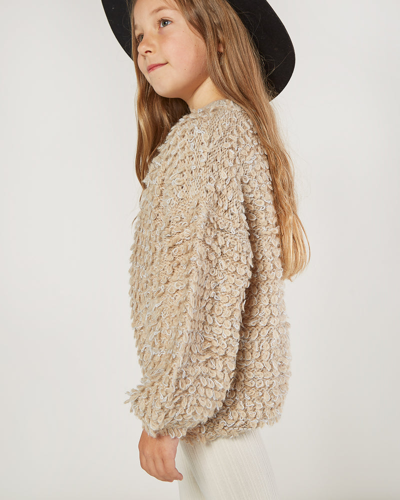 slouchy pullover sweater || oat - Rylee + Cru
