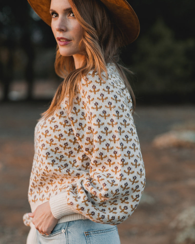balloon sweater | flower stitch - Rylee + Cru