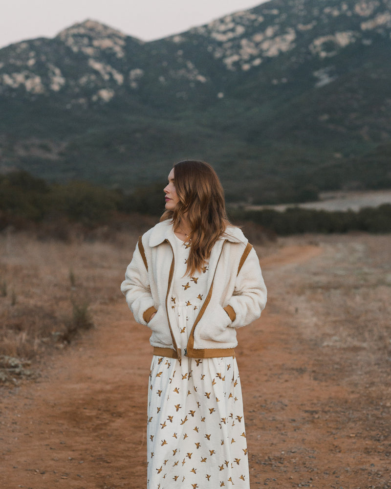sherpa coat | natural - Rylee + Cru