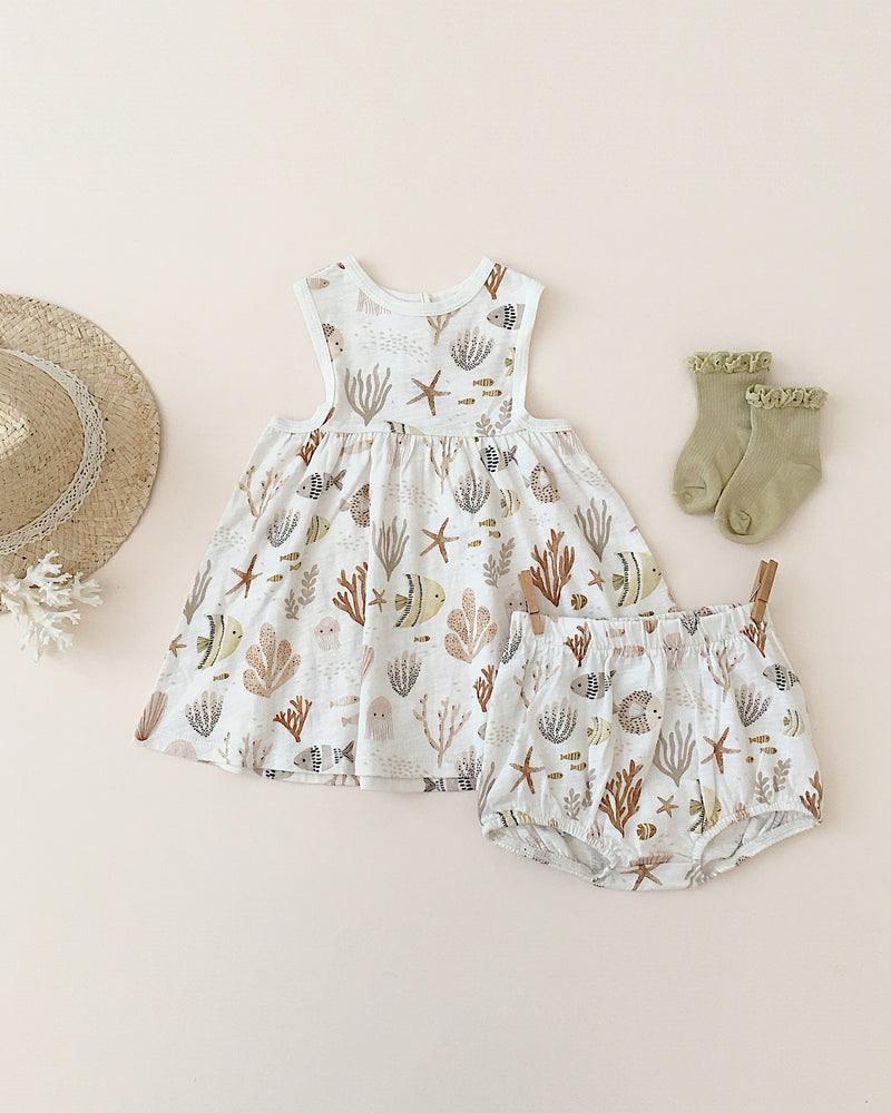 essential bloomer || sea life - Rylee + Cru | Kids Clothes | Trendy Baby Clothes | Modern Infant Outfits |