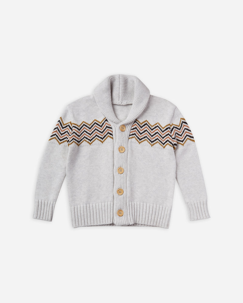 shawl cardigan || soft grey - Rylee + Cru