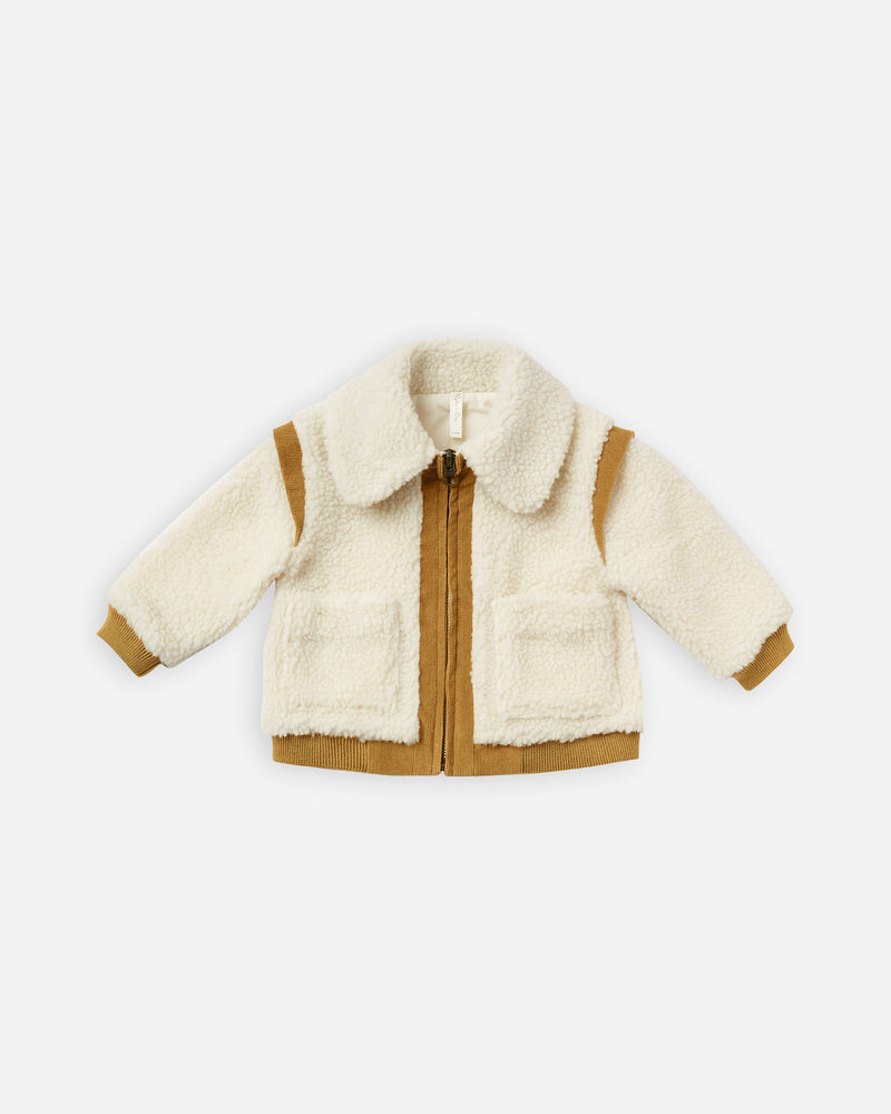 sherpa jacket || natural - Rylee + Cru