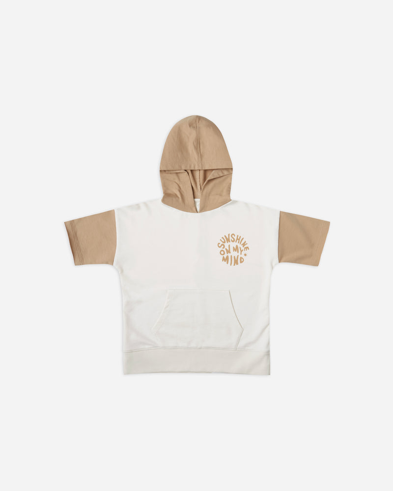 short sleeve hoodie || sunshine on my mind - Rylee + Cru | Kids Clothes | Trendy Baby Clothes | Modern Infant Outfits |
