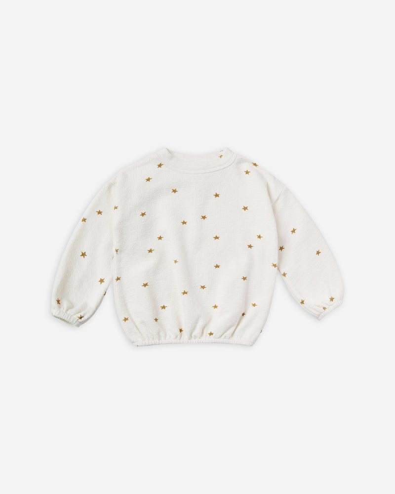 star slouchy pullover || ivory - Rylee + Cru