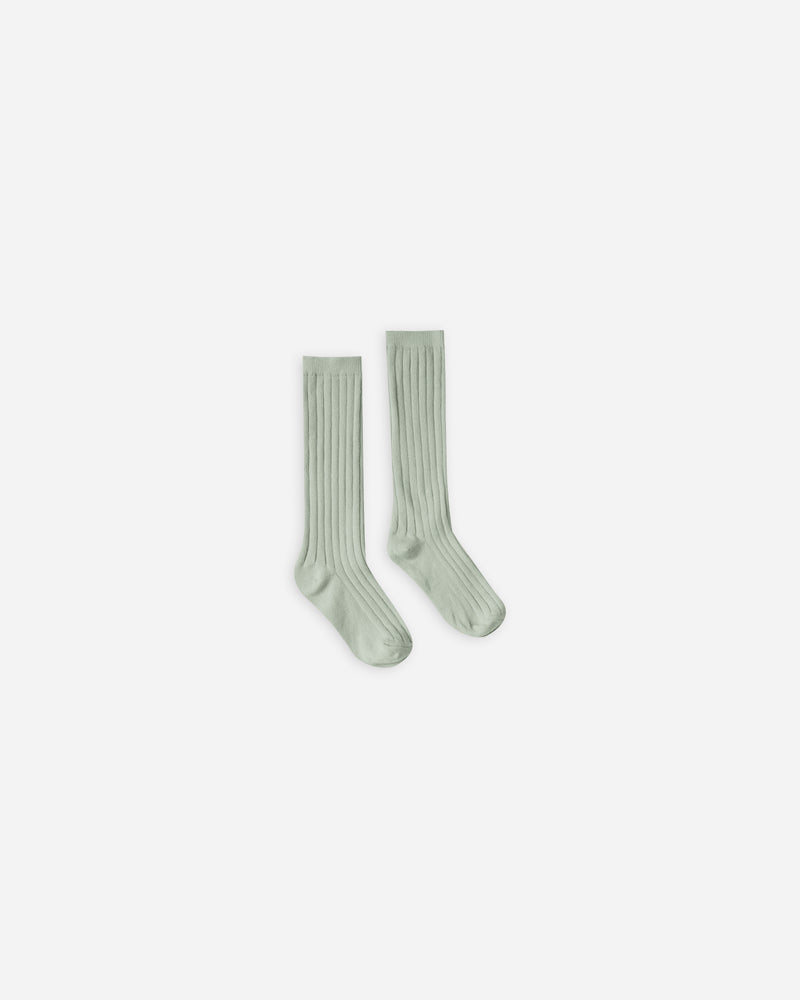 solid ribbed socks || seafoam - Rylee + Cru