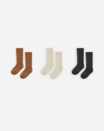 knee socks set || cinnamon, natural, black - Rylee + Cru