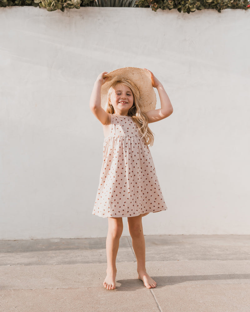 layla dress || strawberry - Rylee + Cru | Kids Clothes | Trendy Baby Clothes | Modern Infant Outfits |