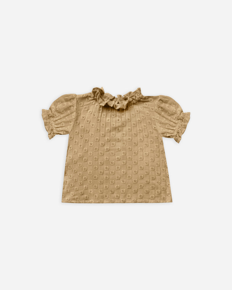 stella blouse || goldenrod - Rylee + Cru | Kids Clothes | Trendy Baby Clothes | Modern Infant Outfits |